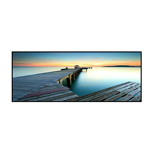 RTCKF Decorazione Camera da Letto Pittura Moderna e Minimalista Vista Mare Singolo Banner Appeso Pittura Divano Sfondo Muro Comodino Ristorante No Frame D4 50 cm * 150 cm
