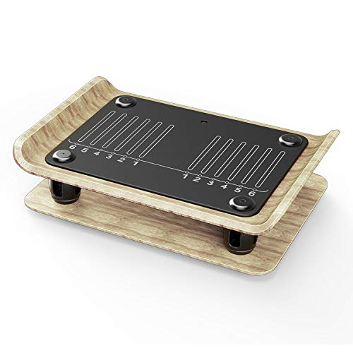 Klarfit Roomik Shake Vibrationsplatte Vibrationstrainer Ganzkörper Trainingsgerät (15-55 Hz • Variabler Schwierigkeitsgrad • Kompaktbauweise • zertifizierte Birke • inkl. Fernbedienung) schwarz-braun