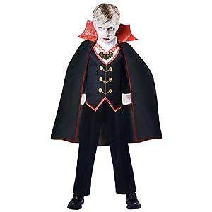 amscan- Count Boy Costume-Age 8-10 Years-1 Pc Disfraz de Drácula de conde niño de 8 a 10 años, 1 unidad. (9904769)