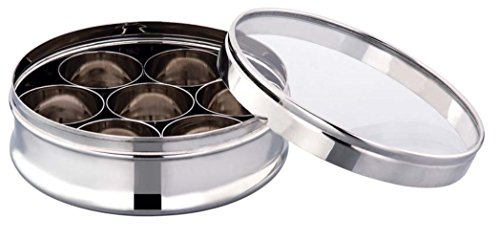 Expresso® Crystal Masala Box / Dabba / Dry Fruit / Spice Box Stainless Steel C'Thru Container  available at amazon for Rs.665