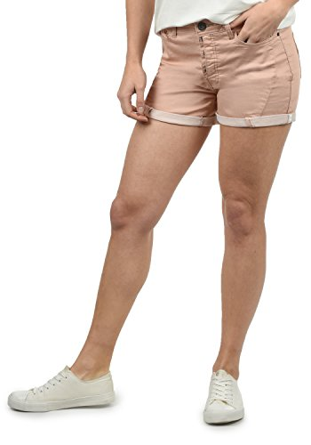 DESIRES Elja Damen Jeans Shorts Kurze Denim Hose Boyfriend-Shorts Aus Stretch-Material Loose Fit, Größe:38, Farbe:Mahog. Rose (4203)
