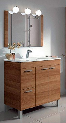 Arkitmobel Aktiva – Mueble de baño, 80 x 80 x 45 cm, color nogal