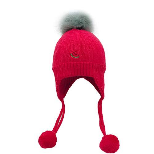 QinMM Infant Cap Baumwolle, Baby Kind Mütze Mädchen Gestrickte Ball Warme Ohrenschützer Kinder Hüte - Fleece-flap Hat