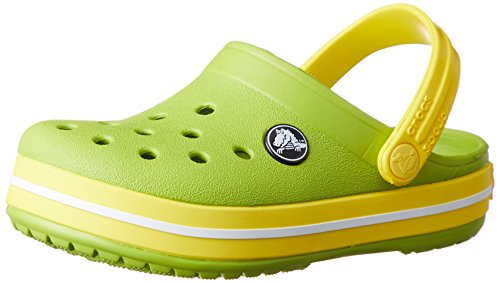 crocs Crocband Clog Kids, Unisex-Kinder Clogs, Grün (Volt Green/Lemon), 19-20 EU (C4 UK)