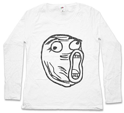 Urban Backwoods LOL Meme Woman Donna T-Shirt A Manica Lunga – Taglie XS – 2XL Bianco