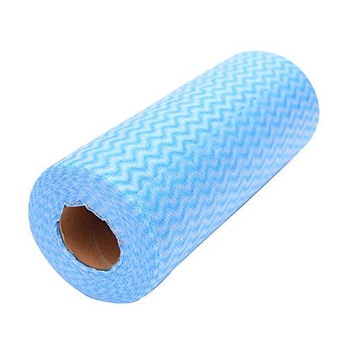 Tessuto non tessuto Tearable pulizia asciugamano panno di pulizia Rag, canovaccio, lavaggio auto, panno, usa e getta, 20* 1500cm Blu