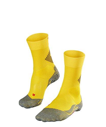FALKE Unisex Socken 4 GRIP, Sport Performance Material, 1 Paar, Gelb (Sunshine 1300), Größe: 39-41