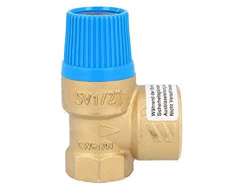 Membran Sicherheitsventil für geschlossene Wasserwärmer nach DIN 4753, 6 bar, bis 75 kW, E 1/2