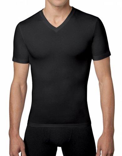 spanx-for-men-mens-cotton-compression-v-neck-t-shirt-size-small-in-black