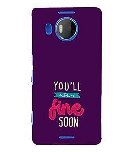 FUSON You Will Fine Soon 3D Hard Polycarbonate Designer Back Case Cover for Microsoft Lumia 535 :: Microsoft Lumia 535 Dual SIM :: Nokia Lumia 535