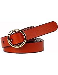 Easy Go Shopping Cinturón de Mujer Cinturón de Cintura elástica con Hebilla  de Metal elástico Retro e7dfa4503827