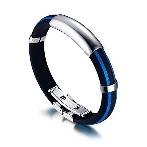 herren-jungen-fashion-edelstahl-mauer-textur-silikon-id-armband-armreif-blau