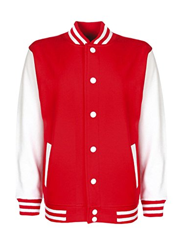 FDM Junior / Kinder Unisex College-Jacke mit kontrastfarbenen -