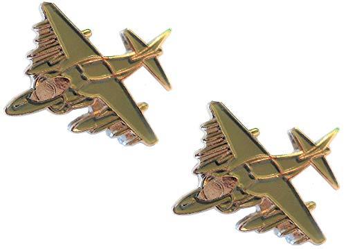 B4B Hawker Harrier RAF Falklands Jet Military Metal Aircraft Manschettenknöpfe -