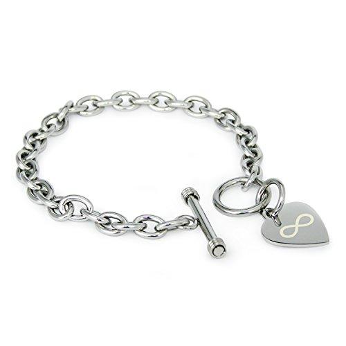 acier-inoxydable-icone-infini-grave-coeur-charme-bracelet