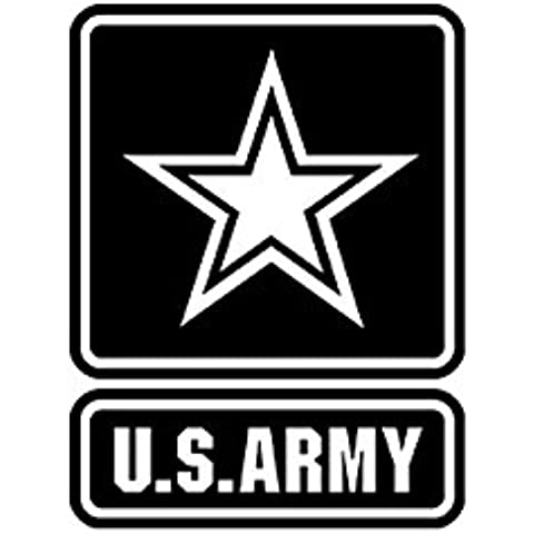 US Army Logo Emblema Escudo nadadores Estrella Ejército Militar UU Estados Unidos (10x 7,5cm), color negro–/Pegatinas # A626