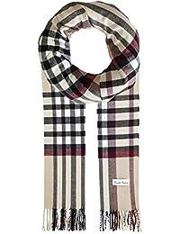 Ornella Venturi Foulard pour femme homme en écharpe à carreaux en damier  tendance à carreaux 67e99b14587