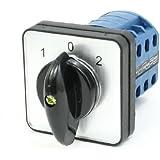 Ith 20A 1–0-2Posición 12Terminales de tornillo Rotary Cam combinación interruptor negro