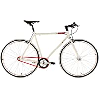 KS Cycling Essence 390B - Bicicleta de fitness, color blanco, ruedas28, cuadro 56 cm