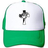 Ejdkdo Patrón Cruzado Deportes Ajustables Gorras de béisbol de Malla Gorra de Camionero Sombreros de Sol
