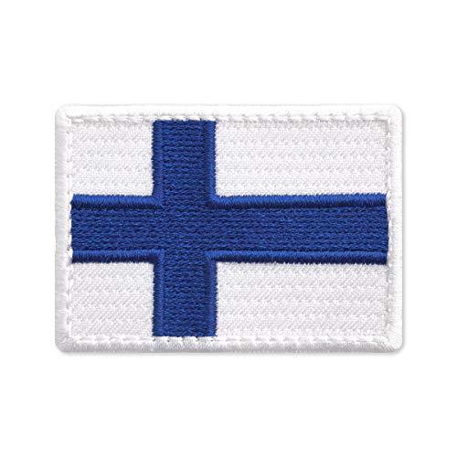 Parche bordado bandera país Finlandia planchar 7