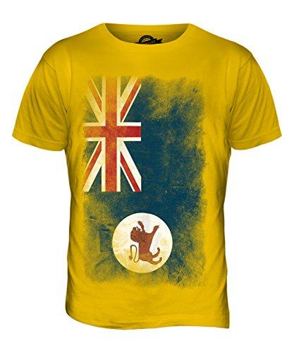 CandyMix Tasmanien Verblichen Flagge Herren T Shirt Dunkelgelb