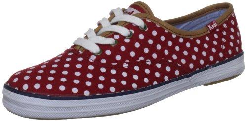 Keds Champion CVO Dots WF46401, Damen Sneaker, Rot (red/white normal),EU 38 (Keds Damen Rot)
