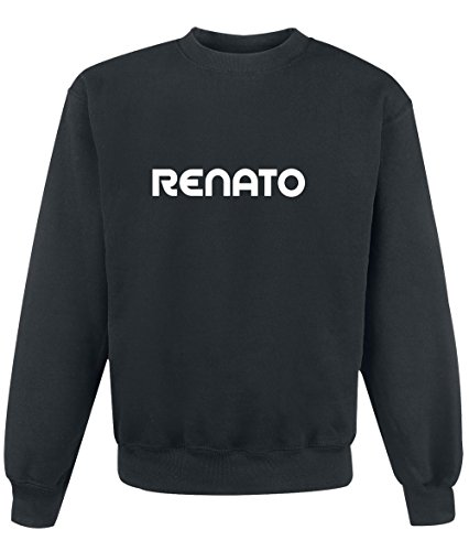 Felpa Renato - Print Your Name Black