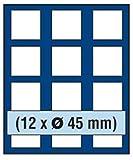 SAFE MÜNZBOX NOVA Nr. 6345 - 12 x 45 mm QUADRATISCHE FÄCHER - IDEAL FÜR 5 MARK DEUTSCHES KAISERREICH IN CAPS - CANADA $ MEAPLE LEAFE IN CAPS Münzen in Münzkapseln bis Caps 39 mm Münzen bis zu einem Durchmesser von 45 mm - Münzenboxen - Münzboxen - Münzelemente