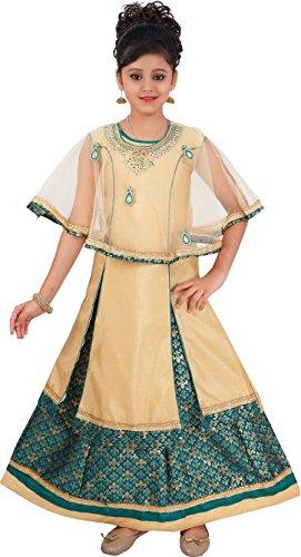 Saarah Girls Ethnic Wear Beige Color Self Design Lehenga, Choli and Dupatta...