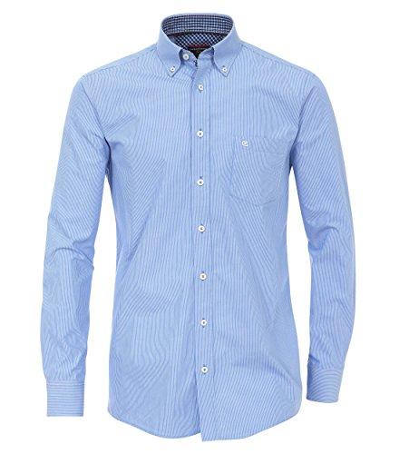 Casa Moda - Comfort Fit - Herren Hemd mit Button-Down Kragen und modischen Streifen (462547800A) Blau (100)