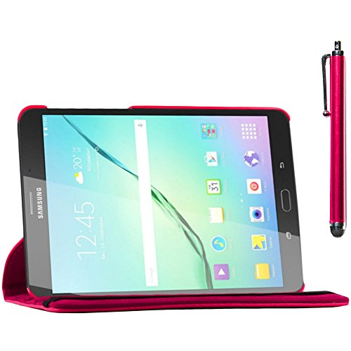 ebestStar - compatibel Samsung Galaxy Tab S2 9.7 Hülle SM-T813, T815 T810 Rotierend Schutzhülle Etui, Schutz Hülle Ständer, Rotating Case Cover Stand + Stift, Pink [Tab: 237.3 x 169 x 5.6mm, 9.7'']