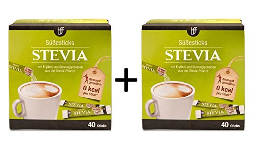 borchers bff Stevia Sticks mit Erythrit 40x2g 2er Pack (2x 40g)