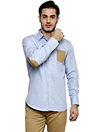 DAZZIO Solid Slim Fit Blue Casual Shirt (Please Refer Size Chart)