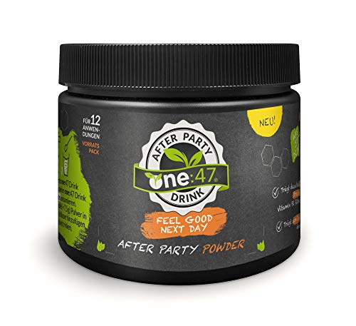 - NEU - one:47 ® After Party Drink | Vorratspack mit 180g purem Pulver | Feel good next day | Die originale geschützte one 47 Formel