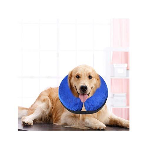 ZHAO ZHANQIANG Hundekegel, Aufblasbares Halsband for Hunde und Katzen, Verstellbares, weiches Haustier-Bergungshalsband, Geeignet for den Halsumfang von Haustieren (groß, klein, mittel)