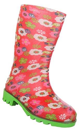 Kinderschuhe Stiefel Mädchen Gummi Regenstiefel Rot