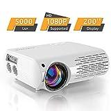 Beamer,5000 Lux Videoprojektor (550 ANSI) XPE660 unterstützt 1080P Full HD, Verbindung mit TV-Sticks, PS4 Xbox, HDMI, VGA, SD-Karten, AV- und USB-Geräten, Heimkino-Beamer (Aktualisierung)
