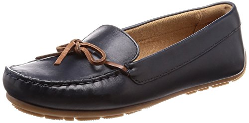 Clarks Damen Dameo Swing Mokassin, Schwarz (Navy Leather), 39 EU