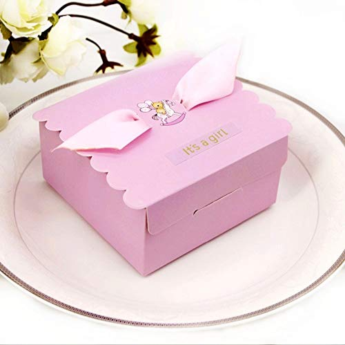 osa Geschenkbox, Gastgeschenk Süßigkeiten Schachtel Tischdeko für Mädchen Geburtstag Babyparty Baby Shower Baby Dusche Taufe Kinder Party ()