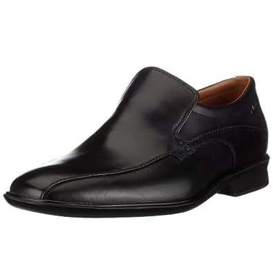 Clarks Men's Goya Way Black Leather Formal Flats - 8 UK