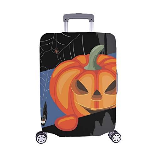 appy Halloween Gruß Postkarte Staubschutz Trolley Protector case Reisegepäck Beschützer Koffer Cover 28,5 X 20,5 Zoll ()