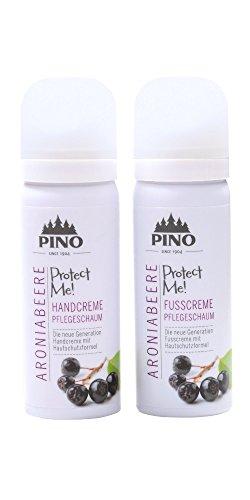 Maximale Trockene Haut-formel (PINO Hand & Fußcreme Pflegeschaum im Set für trockene Haut - Aroniabeere im Set (2x 50 ml))
