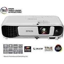 "Epson EB-X41 Projecteur de Bureau 3600ANSI lumens 3LCD XGA (1024x768) Blanc vidéo-projecteur - vidéo-projecteurs (3600 ANSI lumens, 3LCD, XGA (1024x768), 15000:1, 4:3, 762 - 7620 mm (30 - 300""))"