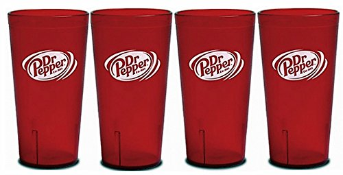 dr-pepper-logo-red-plastic-tumblers-set-of-4-16oz-by-impact