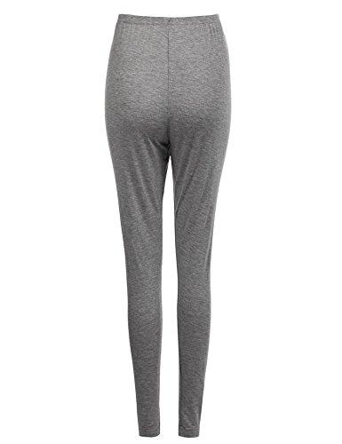 cooshional Umstandsleggings baumwolle Lange Schwangerschaftsleggings Elastisch Figurformend Hosen Grau