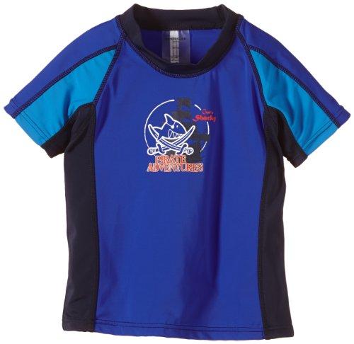 Schiesser Jungen Bade-Shirt Badeshorts, Blau (Aquarium 813), 98 (Herstellergröße: 098) (Aqua-aquarium Herr)