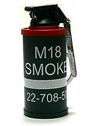 HOOSS SH-822 Smoke Grenade AN-M18 Flint Torch Gas Lighter (Black/Red) L005R