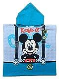 accappatoio Poncho Mickey 1043 Topolino Fondo Azzurro 55 x110 cm Bambino