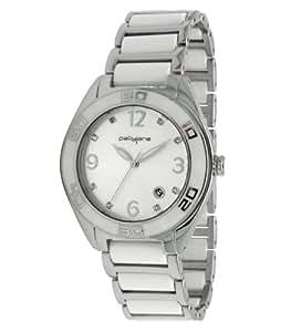PallyJane - 4083622 - Montre Femme - Quartz Analogique - Cadran Blanc - Bracelet en Acier Inoxydable Argent